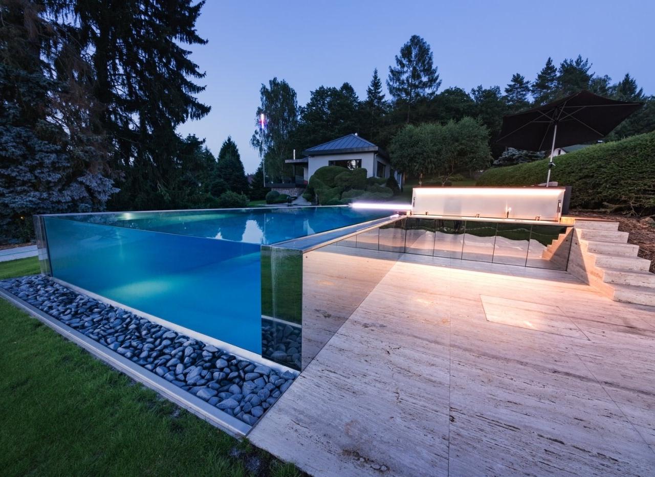 бассейн из стекла фото